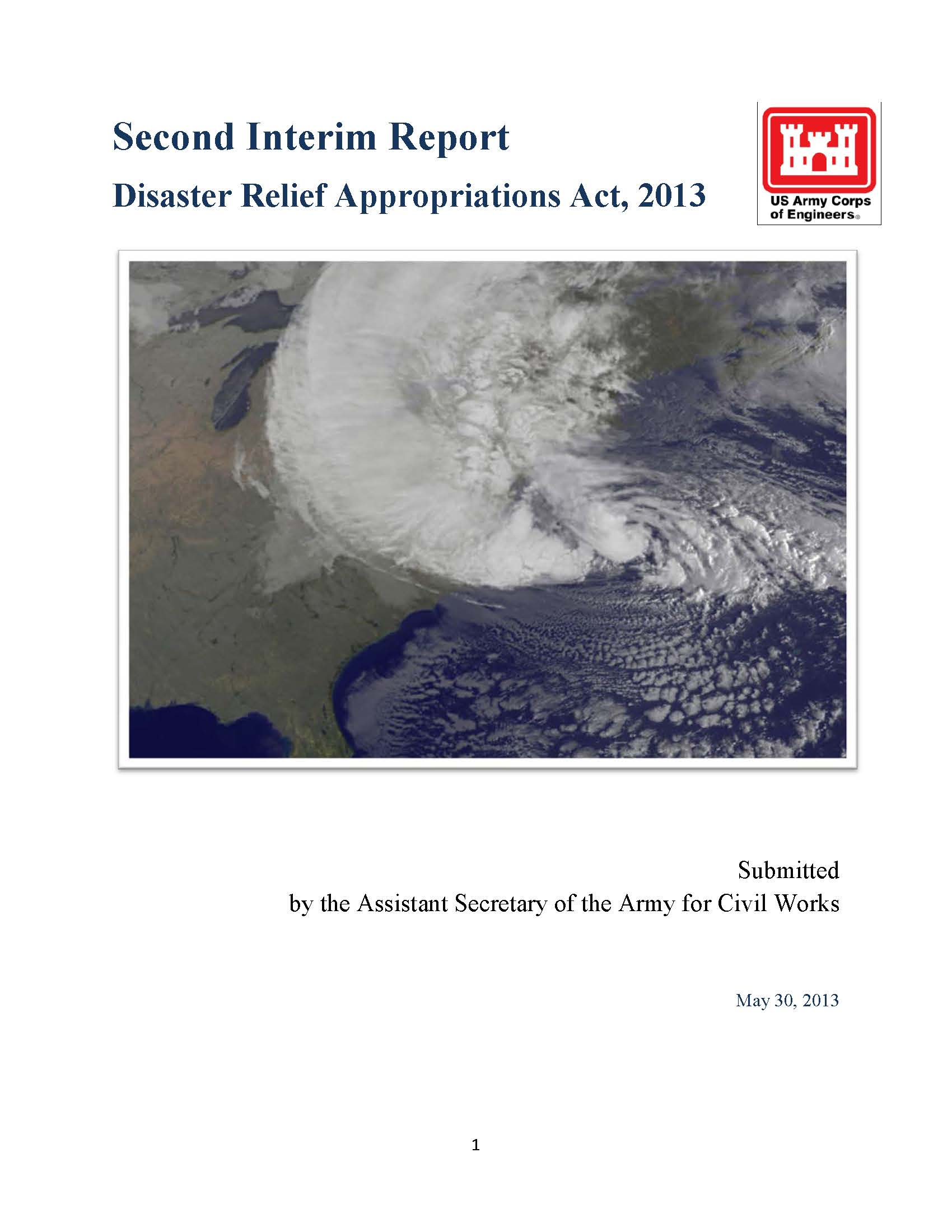 Click to download a PDF of the USACE May 2013 Interim Report to Congress