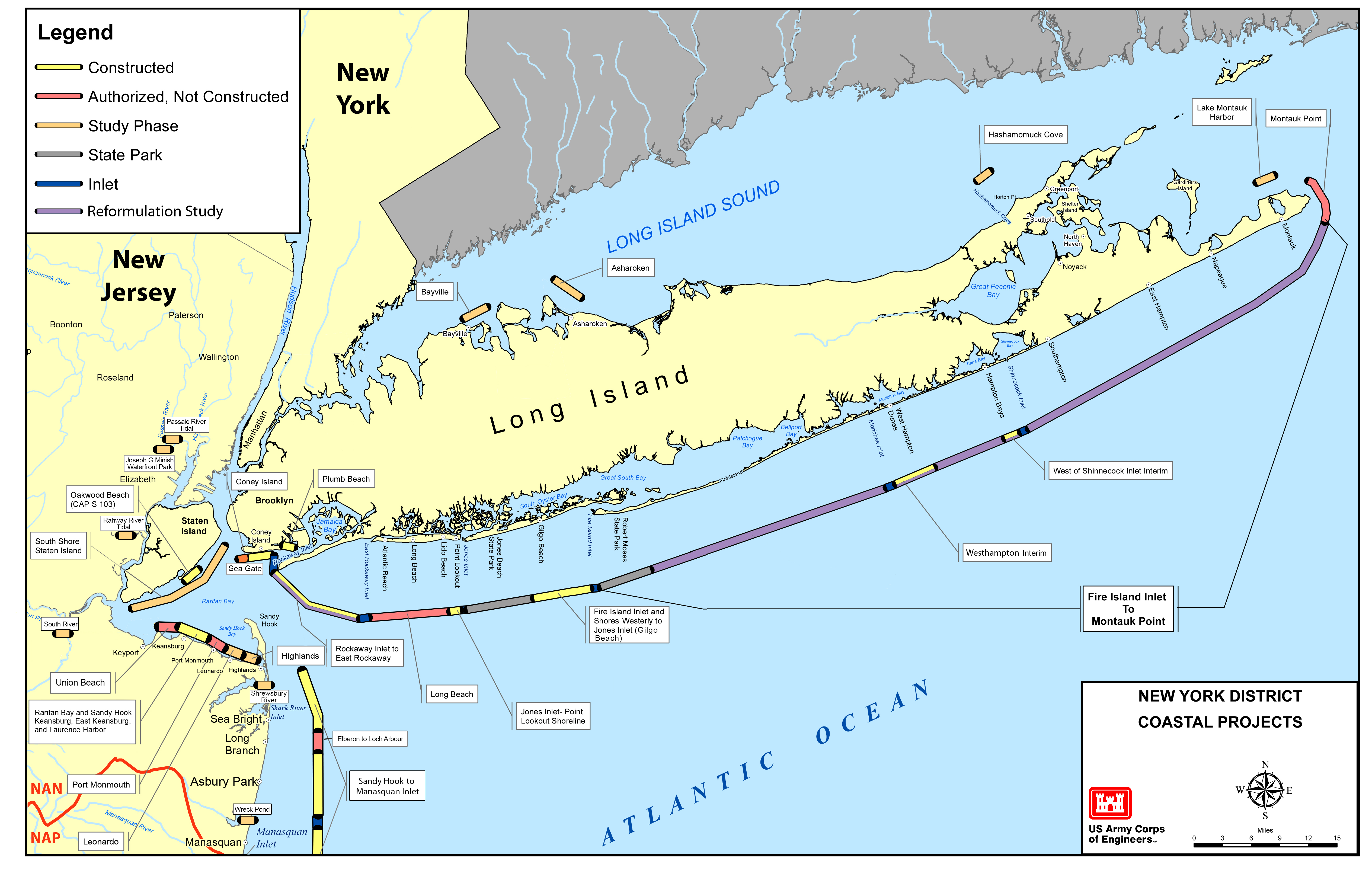 CoastalNANProjectsmapNYandNJjpg - Map of new york and new jersey