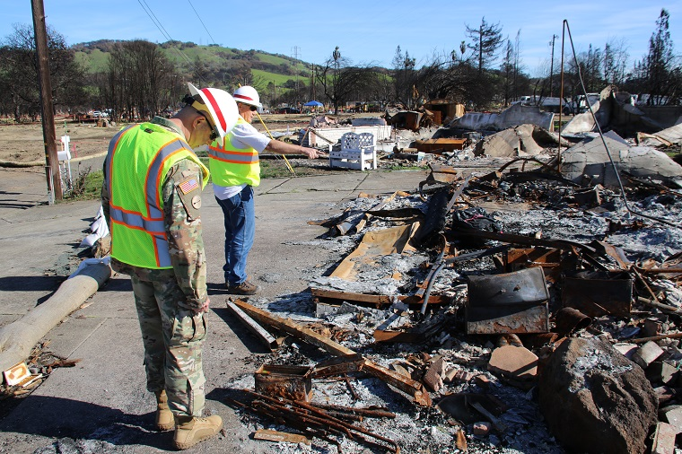 California Wildfires: Army Corps rebuilds lives with GIS Technology