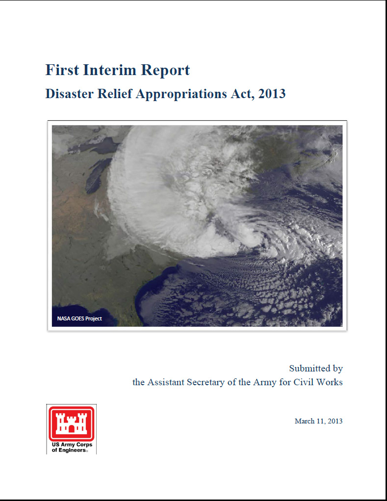 Click to download a PDF of the USACE March 2013 Interim Report to Congress