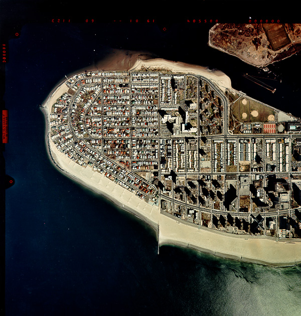Aerial view of Sea Gate after initial Coney Island project construction