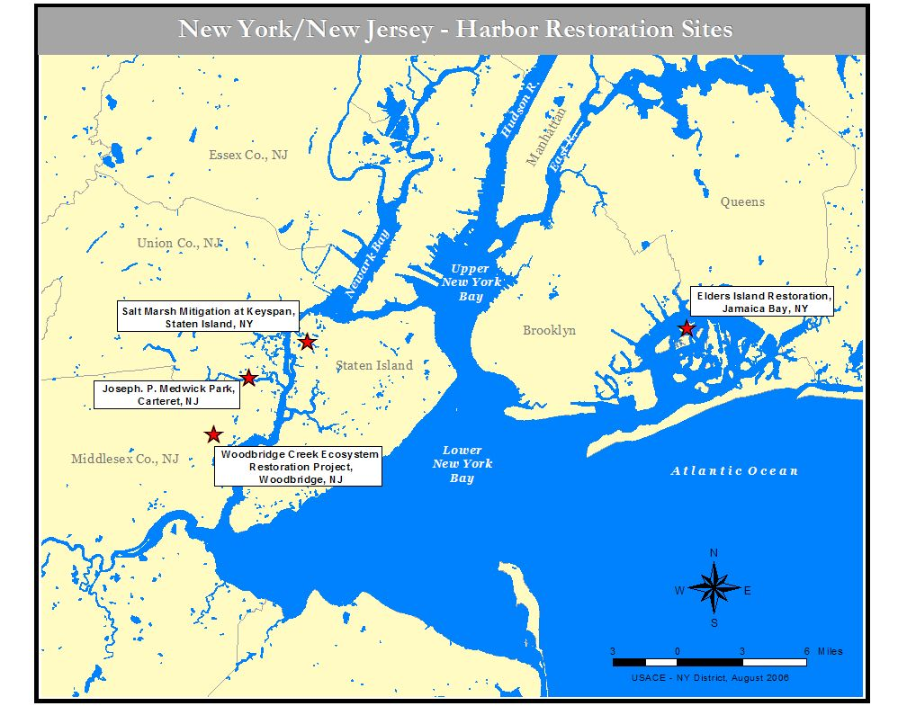 Map Of New York Harbour.New York District Missions Environmental Environmental